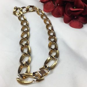 Vintage Jewelry - Vintage Two-Tone Chain Link Necklace